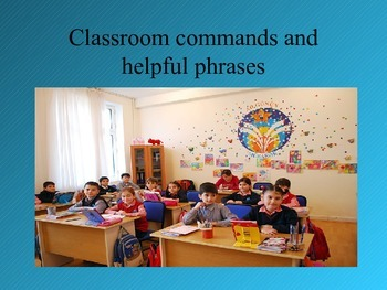 Bilingual classroom commands and phrases