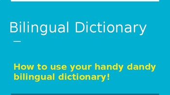 Bilingual dictionary slideshow