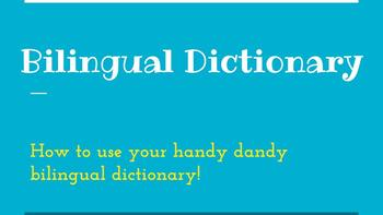 Bilingual dictionary slideshow + guided notes + practice