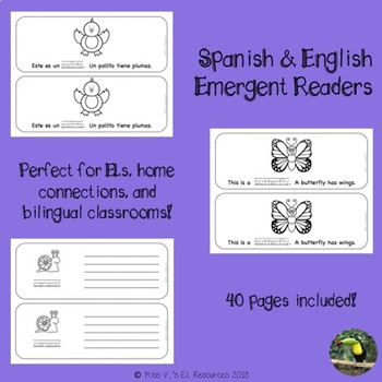 Bilingual emergent readers - Spring (Spanish/English)