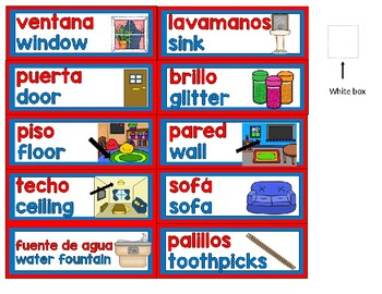 BILINGUAL CLASSROOM LABELS with pictures