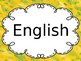 Bilingual language of the day sign
