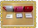 Bilingual literacy center, level 1 command cards Spanish and English.