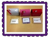 Bilingual literacy center, levels 2 and 3 command cards Spanish and English.