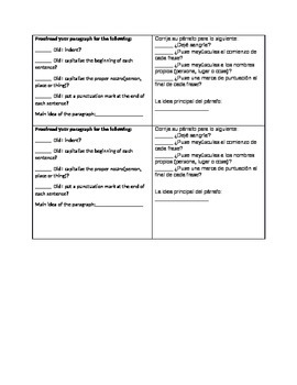 Bilingual paragraph  proof reading marks