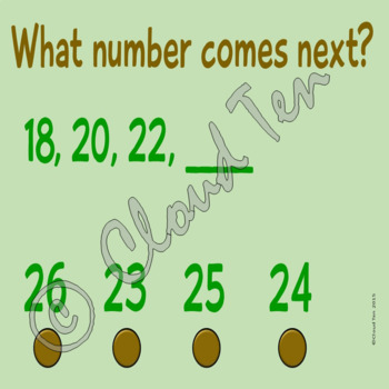 Bilingual skip counting by twos