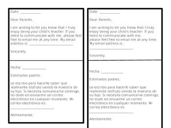 Bilingual teacher communication to parents