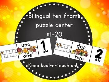 Bilingual  Fall ten frames