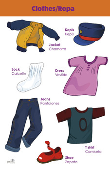 Bilingual theme poster - Clothes