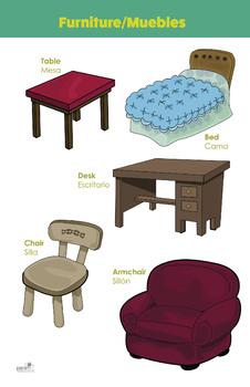 Bilingual theme poster - Furniture