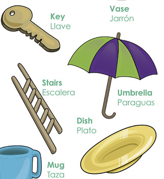 Bilingual theme poster - Objects
