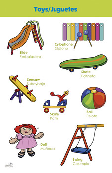 Bilingual theme poster - Toys