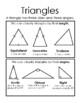 Bilingual triangles (triangulos) poster or reference sheet in English & Spanish