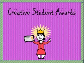 Bilingual Creative Student Awards (Template)/Premios para alumnos creativos