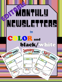 Bilingual/Dual Language Editable Newsletter Templates in English