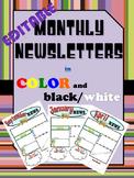 Bilingual/Dual Language Editable Newsletter Templates in English