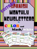 Bilingual/Dual Language Editable Newsletter Templates in Spanish