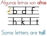 Bilingual/Dual Language Letter Formation Sign