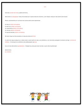 Bilingual/Dual Language Welcome Back to School Letter (Editable)