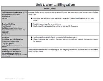 Bilingualism Bundle 5 Week Unit