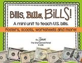 Bill, Bills, Bills: A mini-unit on counting U.S. bills.  {CCSS Aligned} Money