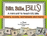 Bill, Bills, Bills: A mini-unit on counting U.S. bills.  {