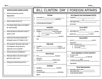 Bill Clinton: Foreign Policy Guided Notes