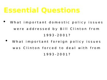 Bill Clinton Presidency PowerPoint Presentation