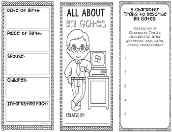 Bill Gates - Inventor Research Project Interactive Notebook, Science