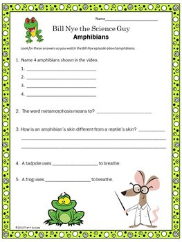 Amphibians Video Response Form - Bill Nye the Science Guy