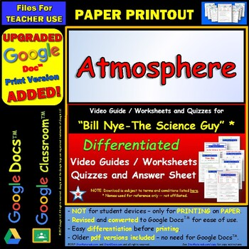 Printables Bill Nye Atmosphere Worksheet bill nye atmosphere worksheet answer by star materials sheet and two quizzes