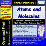Video Guide, Quiz for Bill Nye – Atoms and Molecules * PRI