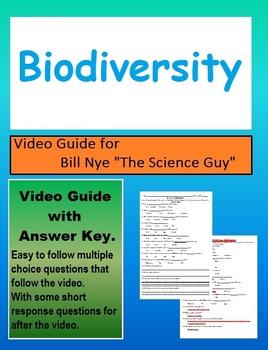 Bill Nye Biodiversity (Ecosystems) video follow along