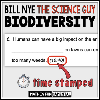 image regarding Biodiversity Printable Worksheets named FREEBIE Invoice Nye Biodiversity Video clip Concerns with Year Stamp