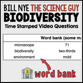 {FREEBIE} Bill Nye Biodiversity Video Questions with Time ...