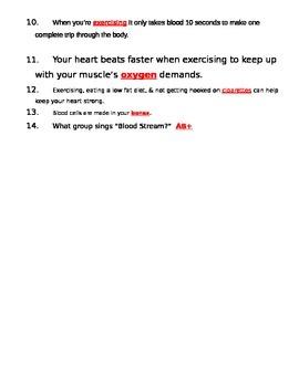 bill nye blood circulation video guide sheet by jjms tpt. Black Bedroom Furniture Sets. Home Design Ideas