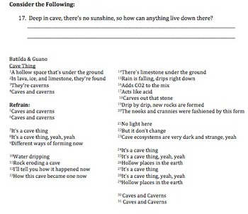 Bill Nye Caves Video Worksheet