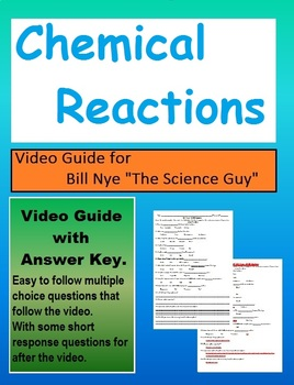 Bill Nye: S2E4 Chemical Reactions Video Sheet