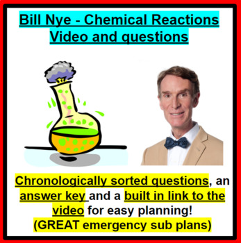 Bill Nye - Chemical Reactions GREAT SUB PLANS!