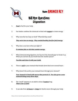 Bill Nye - DIGESTION -21Q\'s & Science Student Karaoke by Nicole Paul