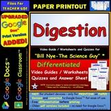 Video Guide, Quiz for Bill Nye – Digestion * PRINTING Google Doc™/pdf