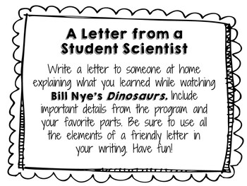 Bill Nye: Dinosaurs - Video Journal