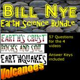 Bill Nye volcano  rocks and soil earthquakes Earth's crust -Earth Science bundle