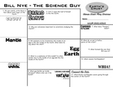 Bill Nye - Earth's Crust - Ultimate Watch-Along Worksheet