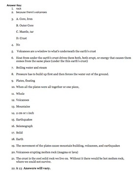 Bill Nye Earth's Crust Video Worksheet