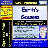 Video Guide, Quiz for Bill Nye – Earth's Seasons * PRINTIN