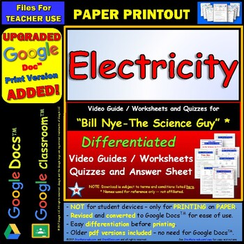 bill nye electricity worksheet answer by star. Black Bedroom Furniture Sets. Home Design Ideas