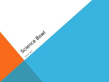 "Bill Nye Energy ""Science Bowl"" game"