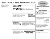 Bill Nye - Energy - Ultimate Watch-Along Worksheet