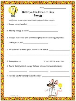 Energy Video Response Form - Bill Nye the Science Guy